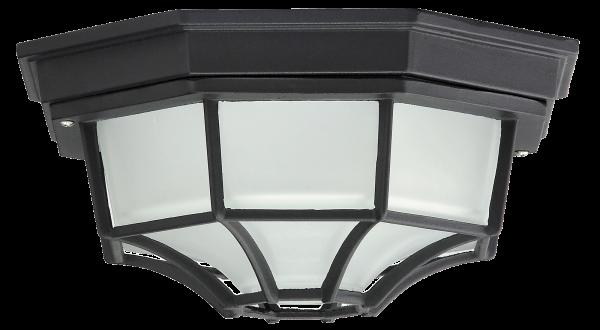 Milano Außendeckenleuchte klassisch Metall/Glas schwarz Außenleuchte Deckenlampe Außenlampe E27 100W