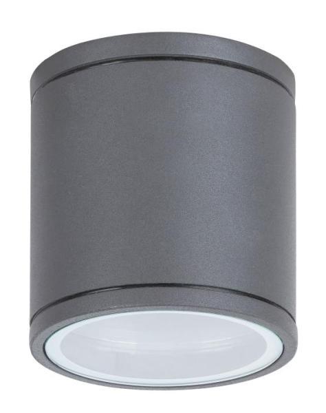 Akron Außendeckenleuchte Industriedesign Aluminium/Glas anthrazit grau Außenleuchte Deckenlampe Auße