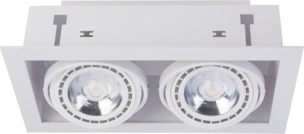 Einbaustrahler GU10/ES111 weiß 75W 2 flammig Downlight