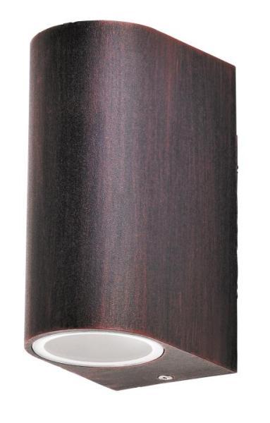 Chile Außenwandleuchte klassisch Metall/Glas antikbraun Außenlampe Wandlampe GU10 35W