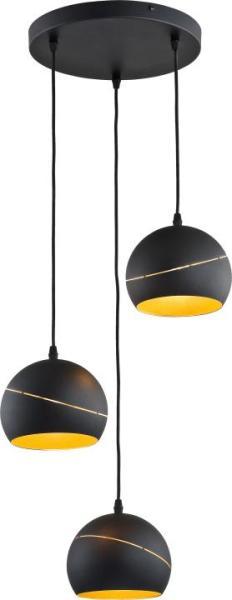 Pendelleuchte YODA BLACK ORBIT schwarz/gold aus Metall 450mm