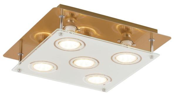 LED Deckenleuchte 5W 5 flammig bronze warmweiß