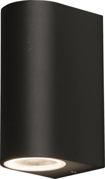 NICO Außenwandleuchte modern Aluminium/Glas grau Außenlampe Wandlampe GU10 35W