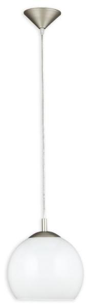 Pendelleuchte Glas weiß 1 flammig E27 Zwisy Kula 15x23