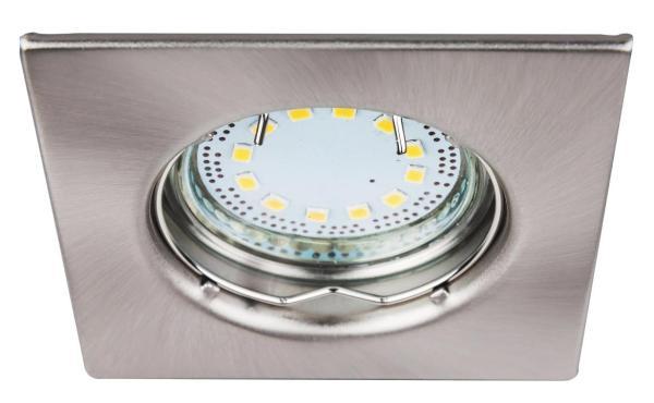LED Einbaustrahler Set warmweiß GU10 eckig chrom matt