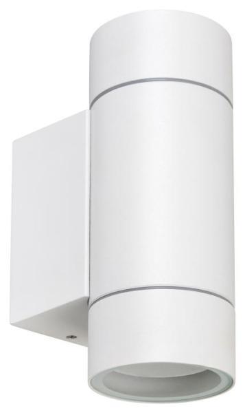 Phoenix, Außenwandleuchte GU10 2X MAX 10W, Aluminium, weiß IP54