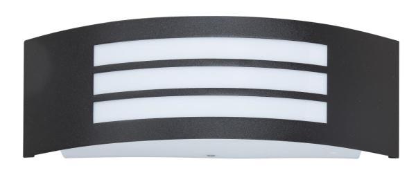 Roma Außenwandleuchte modern Metall/Kunststoff matt schwarz Außenlampe Wandlampe E27 14W