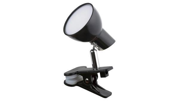 LED Tischleuchte schwarz Klemmleuchte