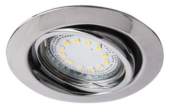 LED Einbaustrahler Set warmweiß GU10 chrom beweglich