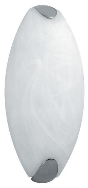 Wandleuchte Bad chrom Glas E27