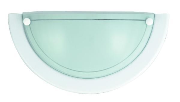 Wandleuchte weiß aus Glas Ufo E27