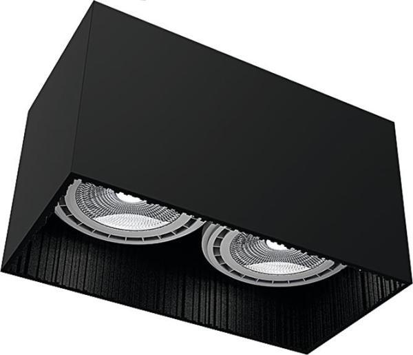 Deckenleuchte aus Metall GROOVE schwarz GU10/ES111