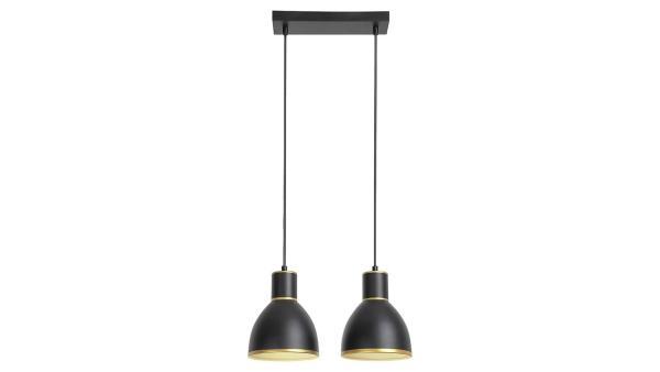 Pendelleuchte schwarz/gold Metall E27 2X MAX 60W IP20