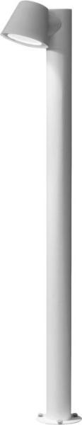 SOUL Wegeleuchte modern Metall/Glas weiß Außenleuchte Standleuchte Pollerleuchte GU10 35W