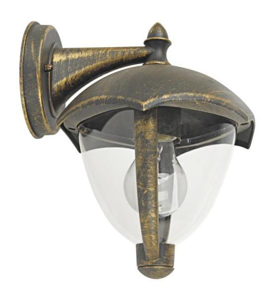 Miami Außenwandleuchte klassisch Metall/Kunststoff antikgold Außenlampe Wandlampe E27 40W