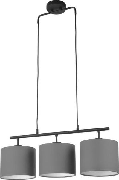 Pendelleuchte TREWIR grau aus Textil/Metall