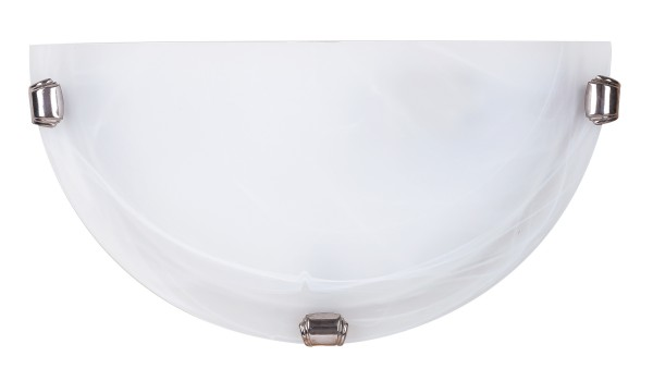Wandleuchte E27 chrom aus Alabasterglas