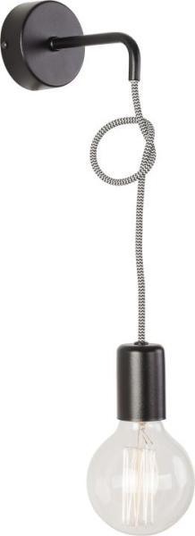 Wandleuchte schwarz aus Metall SIMPLE E27