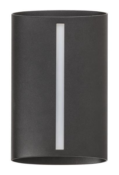 Baltimore Außenwandleuchte modern Aluminium/Kunststoff matt schwarz Außenlampe Wandlampe E27 25W
