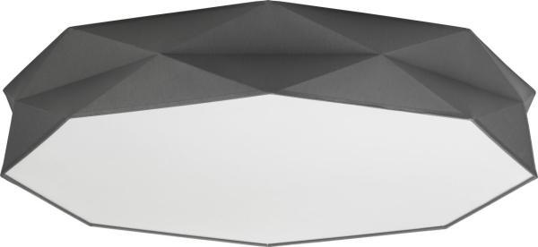 Deckenleuchte Stoff Grau 86 cm