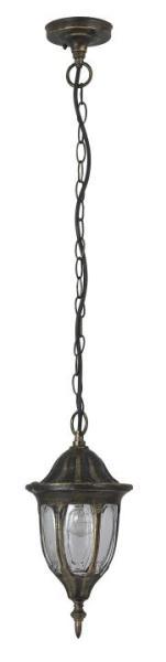 Milano Außendeckenleuchte klassisch Metall/Glas antikgold Außenleuchte Deckenlampe Außenlampe E27 60