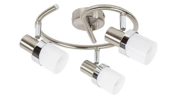 Deckenleuchte chrom matt/chrom/Opalglas Metall Glas E14 3X MAX 40W IP20