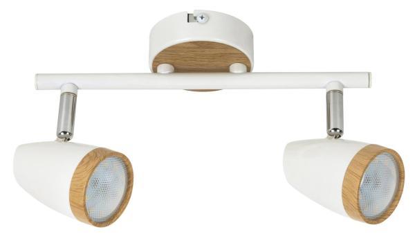 LED Spot weiß 8W Karen Metall/Kunststoff 3000K warmweiß 2x280lm