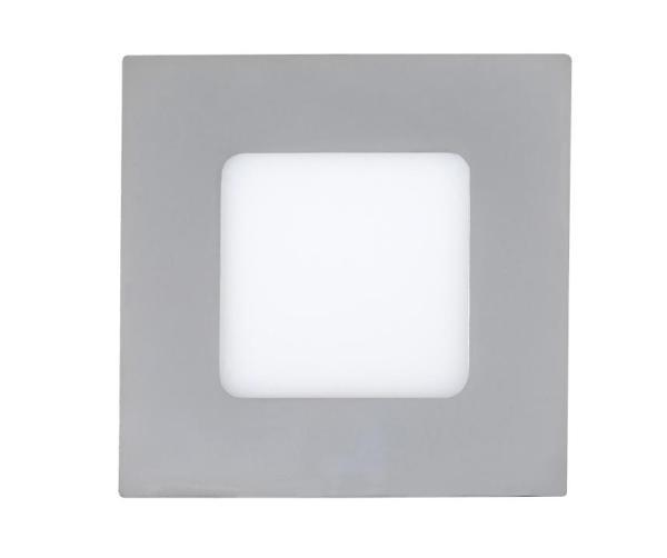LED Einbauleuchte LOIS chrom warmweiß quadratisch 90mm