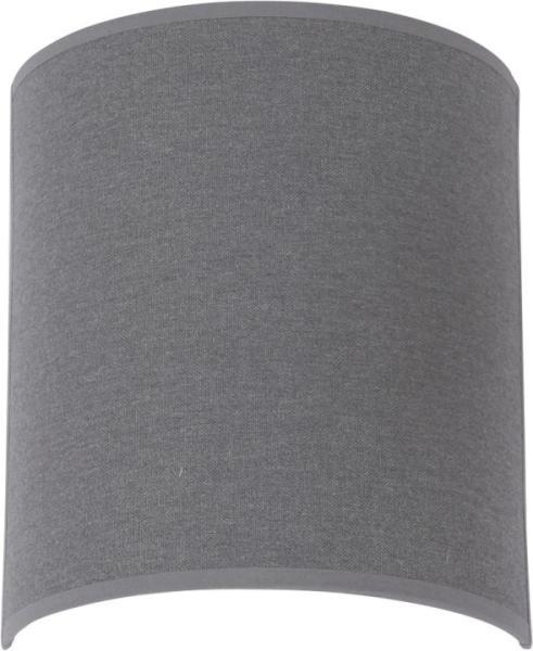 Wandleuchte modern grau aus Textil E27