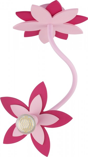 Kinderzimmerlampe Mädchen FLOWERS rosa mit Blumen-Design