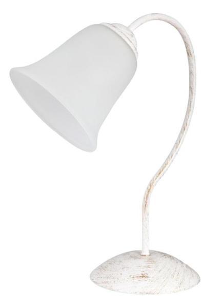 Tischlampe weiß Glas retro E27
