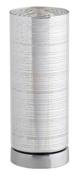 Tischlampe modern silber Glas E27 Vera