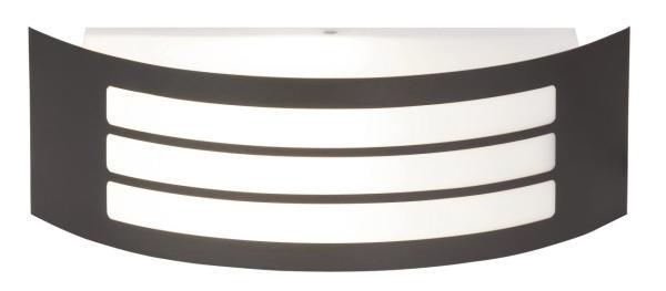 Roma Außenwandleuchte modern Kunststoff/Metall anthrazit grau Außenlampe Wandlampe E27 14W