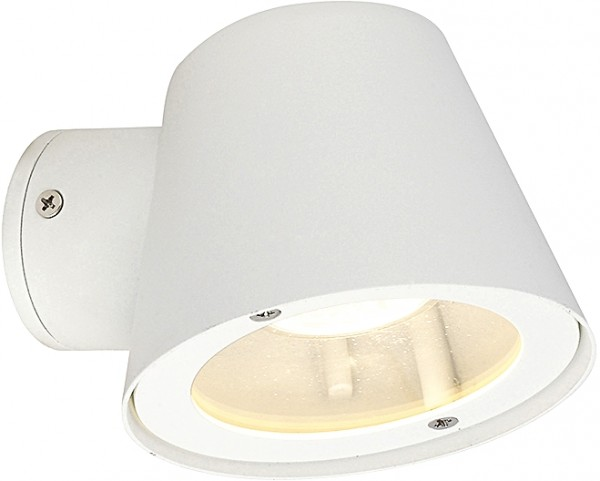 SOUL Außenwandleuchte modern Metall/Glas weiß Außenlampe Wandlampe GU10 35W