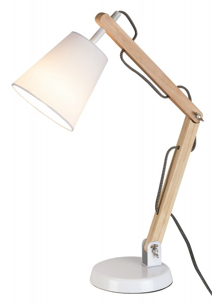 Tischlampe Holz weiß Thomas E14
