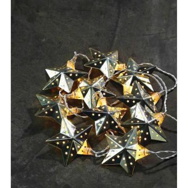 LED-Lichterkette SILBERSTERN Kunststoff/Metall