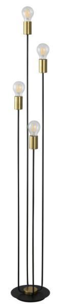 Stehlampe schwarz Lanny Metall E27