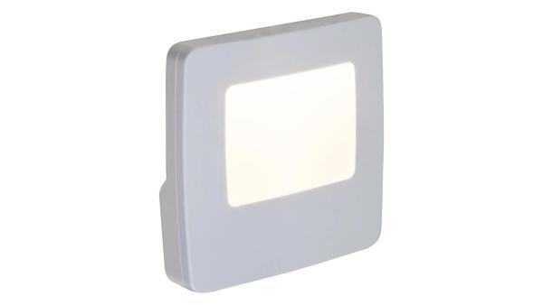 LED Kinderzimmerlampe Nachtlicht, weiß, eingebaute LED 0,5W 3000K, Lichtsensor, 74x70mm