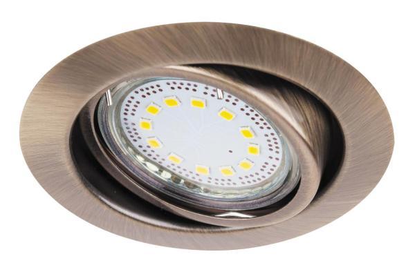 LED Einbaustrahler Set warmweiß GU10 bronze beweglich