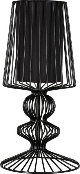 Tischlampe modern schwarz Metall E27 AVEIRO S