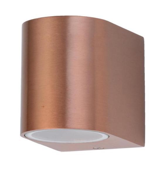 Außenwandleuchte kupfer aus Aluminium-Druckguss/Glas 8,3cm
