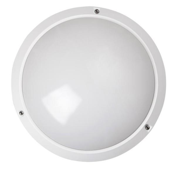 Lentil Außendeckenleuchte klassisch Kunststoff weiß Außenleuchte Deckenlampe Außenlampe E27 60W