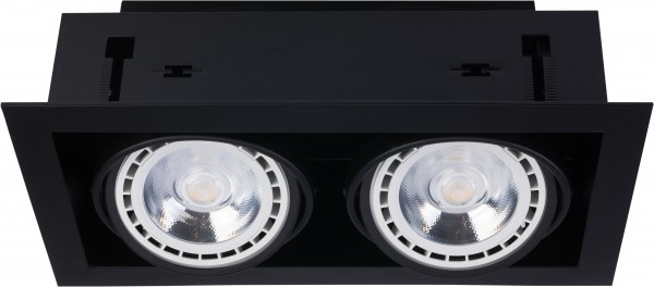 Einbaustrahler GU10/ES111 schwarz 75W 2 flammig Downlight