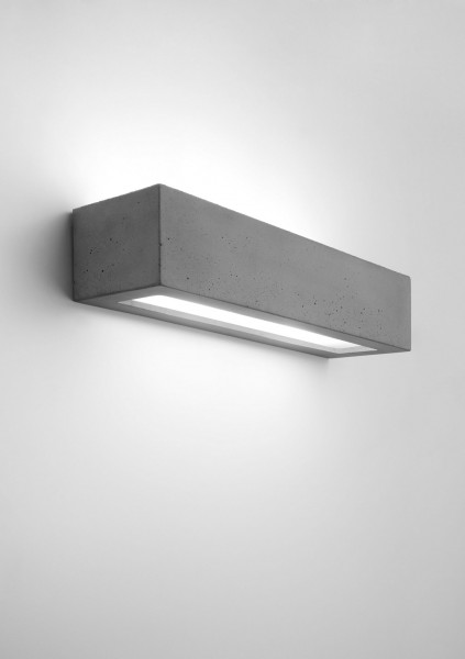Wandleuchte modern grau aus Glas Solid