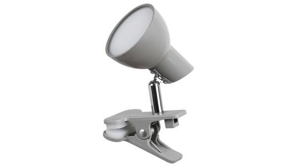 LED Tischleuchte grau Klemmleuchte