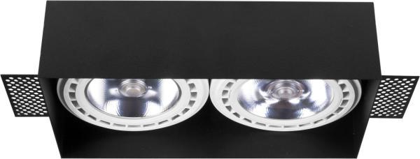 Einbaustrahler GU10/ES111 schwarz 75W 2 flammig Mod Plus