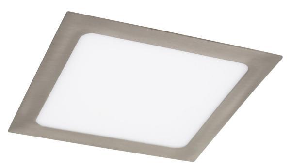 LED Einbauleuchte LOIS in chrom warmweiß quadratisch 220mm