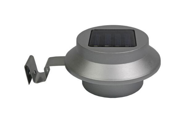 LED Solar-Dachrinnenleuchte Dachrinnenleuchte Kunststoff/Metall silbergrau
