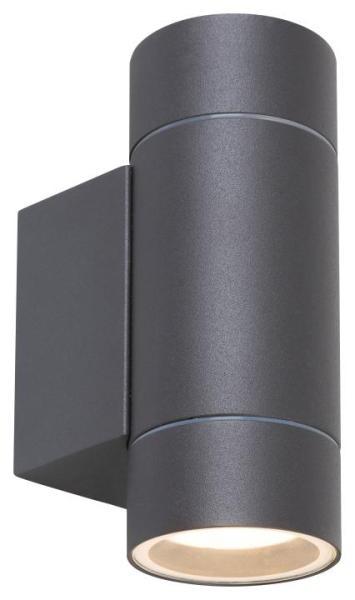 Phoenix, Außenwandleuchte GU10 2X MAX 10W, Aluminium, antrazitgrau IP54