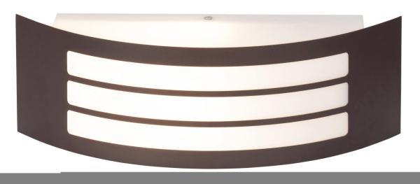 Roma Außenwandleuchte modern Kunststoff/Metall braun Außenlampe Wandlampe E27 14W
